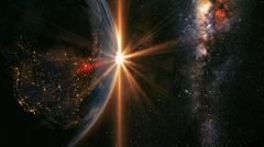 Earth sunrise - stock photo