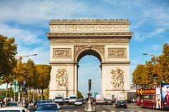 Arc de triomphe de l'etoile in paris Stock Photos