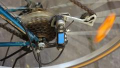 Bicycle gear. Stock Footage