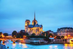 Notre dame de paris cathedral Stock Photos