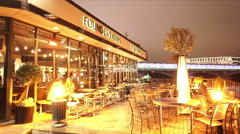 Famous Founders British Pub at London southbank - stock footage