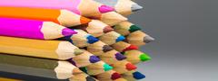 Colour pencils isolated  background Stock Photos