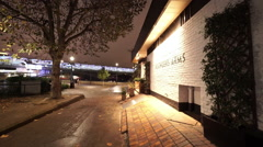 Famous Founders British Pub at London southbank Stock Footage
