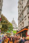 Stock Photo of rue de steinkerque on montmartre hill in paris, france