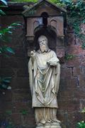 Statue of the saint in mettlach, germany Stock Photos