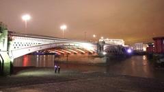 Stock Video Footage of The Blackfriars Bridge London