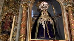Virgen de los Dolores,  obra anónima gadito-genovesa del siglo XVIII Stock Footage