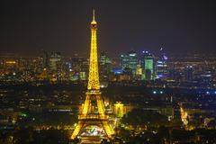 Paris cityscape with eiffel tower Stock Photos