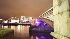The Blackfriars Bridge London - stock footage