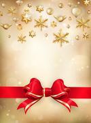 Golden Christmas Decoration. EPS 10 - stock illustration
