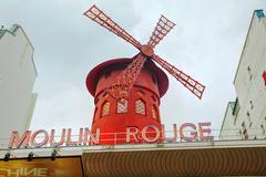 The moulin rouge cabaret in paris Stock Photos