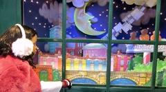 Christmas Window Dublin, Ireland Stock Footage