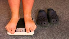 Overweight woman. Stock Footage