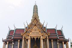 Wat phra kaew, temple of the emerald buddha, bangkok, thailand Stock Photos