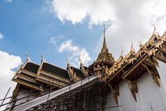 Temple in grand palace emerald buddha (wat phra kaew), bangkok, thailand Stock Photos