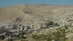Jordan historical and archaeological city Petra 066 the new city from above Stock Footage