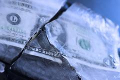 dollar freeze - stock photo