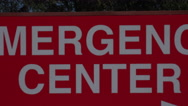 Stock Video Footage of 4K Emergency Center Sign Arrow