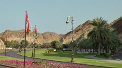 Arabia Orient Oman sultanate city of Muttrah (Matrah) 064 coast road to muscat - stock footage