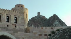 Muscat / Maskat Arabia Orient Oman sultanate 082 Omani watchtower Stock Footage