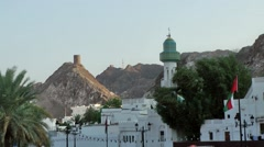 Muscat / Maskat Arabia Orient Oman sultanate 083 cityscape of old muscat Stock Footage