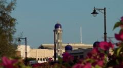 Muscat / Maskat Arabia Orient Oman sultanate 089 minaret in sultan palace Stock Footage