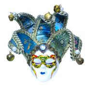 Traditional carnival Venetian mask isolated on white background Stock Photos