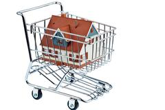 House in shopping cart Kuvituskuvat
