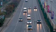 In-city traffic on E5 Road in Istanbul Stock Footage