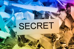 Shredded paper secret Stock Photos