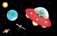 UFO and space Piirros