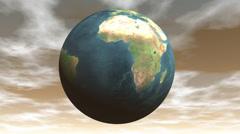 Seamless looping earth - 3D render - stock footage