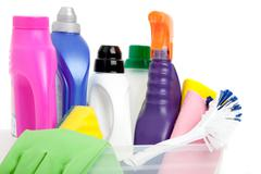 Household chemicals Stock Photos