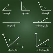 Mathematical Angles Signs - stock illustration