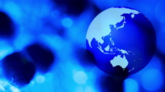World globe rotating Stock Footage