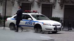 Police car NY Stock Footage