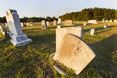 Tombstones At Dusk Stock Photos