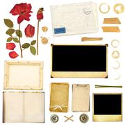 Collection elements for scrapbooking Stock Photos