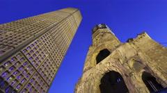4K Time lapse Kaiser Wilhem Memorial Church in Berlin Stock Footage