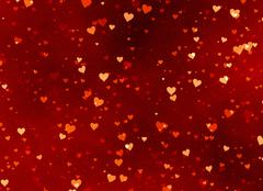 red hearts backgrounds of valentine's day. love texture - stock illustration