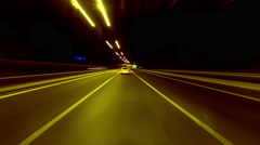 4K timelapse Hyperlapse Athens highway night traffic pov loopable Stock Footage