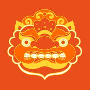 Stock Illustration of Traditional balinese mask. Barong.