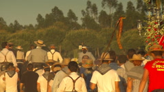 Rocío Pilgrimage. Path of brotherhood of emigrant, Huelva. Stock Footage