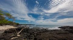 4k Time-lapse Photography on hawaiian lava shore Stock Footage