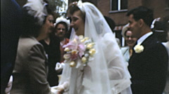 USA 1950s: wedding celebration after the ceremony Stock Footage