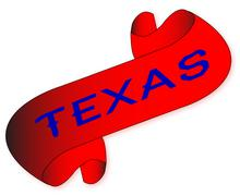 Texas scroll Stock Illustration