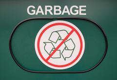 Garbage receptacle Stock Photos