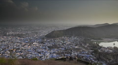 Rajasthani town pan right Stock Footage