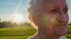 Close up shoot of old woman wrinkles - stock footage