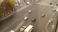 Street road traffic Stock Footage